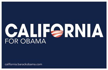 Barack Obama - (California for Obama) Campaign Poster Movie Poster (43,18 x 27,94 cm)