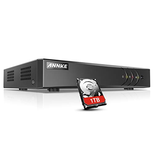 ANNKE 8CH 3.0MP 5 IN 1 TVI DVR Recorder, H.264+ Digital Video Recorder für Videoüberwachung mit Email Alarm (1TB HDD)