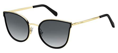 Fossil Fos 2087/S Gafas de sol, Multicolor (Blk Gold), 55 para Mujer