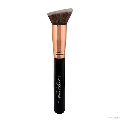 Blank Canvas F10 Brosse de maquillage multi-usages biseautée pour le visage, or rose/noir, or rose/noir1 Unités