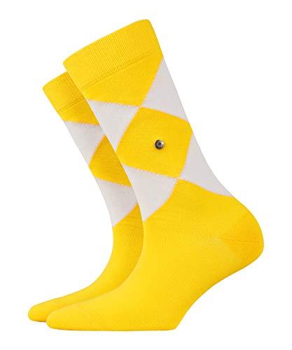 BURLINGTON Damen Socken Argyle Organic - 82% Baumwolle, 1 Paar, Gelb (Sunshine 1330), Größe: 36-41