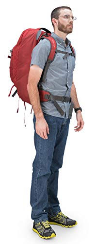 Osprey Packs Farpoint 55 Men's Travel Backpack, Jasper Red, Medium/Large