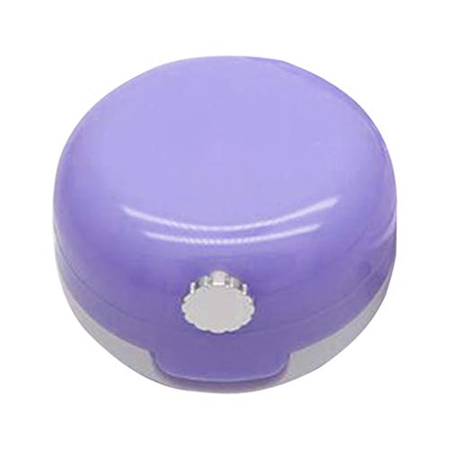 Bonarty Vides Pots Cosmétiques Récipient de Verre Pots Voyage pour Crème Paillette Maquillage Poudreavec Miroir - Violet