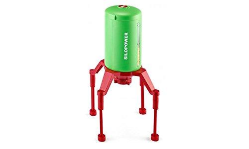 SIKU 5602 - Standsilo SILOPOWER, Kunststoff, Flexible Anpassung der Durchfahrtshöhe für Modelle im Maßstab 1:32 bis 1:87, grün/rot