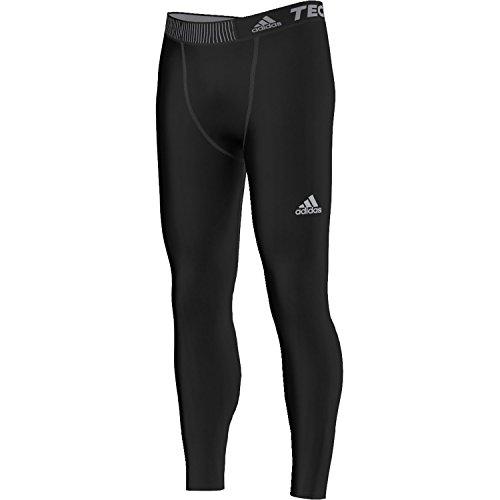 Adidas Techfit Base Collant Homme, Noir/Noir, FR : XXL (Taille Fabricant : 2XL)