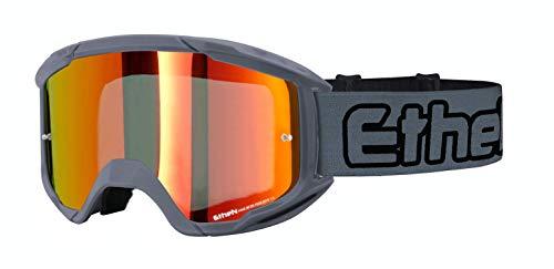 Ethen Gafas/Máscara de Ciclismo, Motocross y Enduro, Lente Espejada, Antivaho, Preparada para...