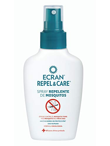 Ecran Repel & Care, Spray Repelente de Mosquitos - Formato Viaje de 100 ml