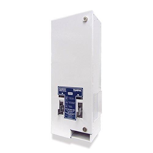 Dual Vendor, Free Vend, White Metal Feminine Hygiene Dispenser