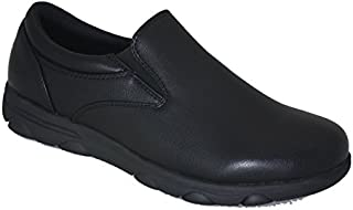 Gelato Mens 8556 Non-Slip Professional Slip on Comfort Work Shoe with Memory Insole