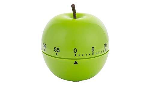 ORYX 5185000 Temporizador Minutero Cocina Manzana Verde 60 Minutos, Plastique