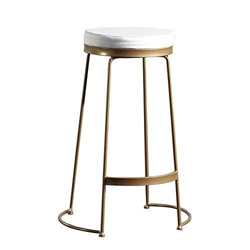 N/Z Tägliche Ausrüstung Bar Hochstuhl Hocker Bar Stuhl Einfache Hochhocker Home Barhocker Schmiedeeisen Rahmen für Cafe Tea Shop Gold