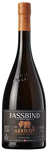 Fassbind Vieil Abricot (1 x 0.7 l) - Edler Schweizer Obstbrand aus der traditionellen Aprikosen-Sorte «Royal Luizet» mit 40% vol. Alkohol