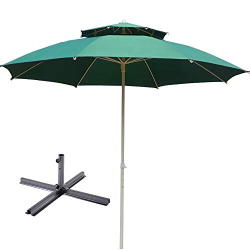 Garden Umbrella, Outdoor Umbrella, Stall Umbrella, Sun Shed, UV Protection Umbrella, Patio Umbrella, Market Umbrella, Advertising Umbrella, Double Top Umbrella, Polyester Cloth, 3.0m