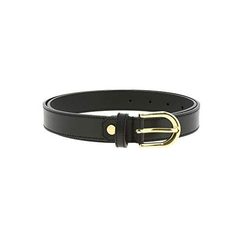 Fashiongen - Cinturón de mujer piel, cuero LUNA - Negro (Dorado), 95