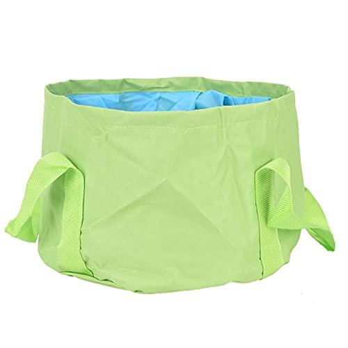 WGDPMGMZ usammenklappbareFußbadewanne Faltbare Waschbecken Reise Camping Waschtisch Eimer Spa Fußbad Eimer Angeln Falten Waschbecken Fußbad Waschbecken Waschkorb (Color : Green)