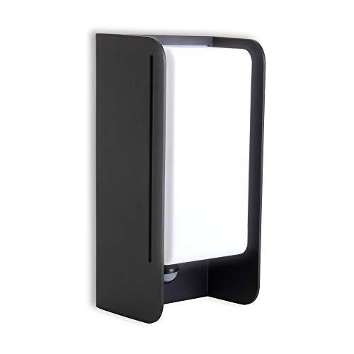 B.K.Licht Außenlampe mit Sensor I 1-flammig I E27 I Bewegungsmelder I IP44 Wandlampe für Außen I 255x120 mm I Leuchtmittel exkl.