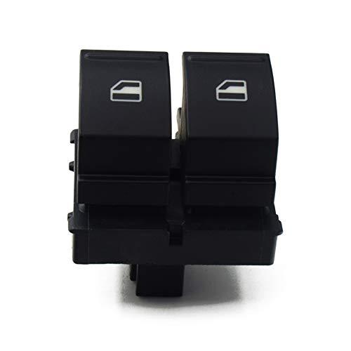 JOMOSIN QICHE25 Alturas Calibre Interruptor de ventana Botón de control 1K3959857A 1F0959855 para VW Caddy 2K Jetta EOS Golf MK5 Passat B6 Polo 6R Touran SEAT Automoción (Color: Master)