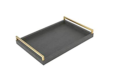 Faux Leather Coffee Table Tray