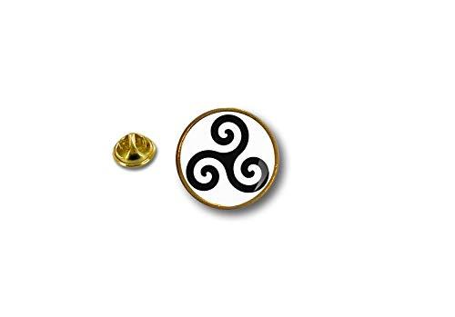 Akacha pin Button pins anstecker Anstecknade keltische triskel triskell Triskele