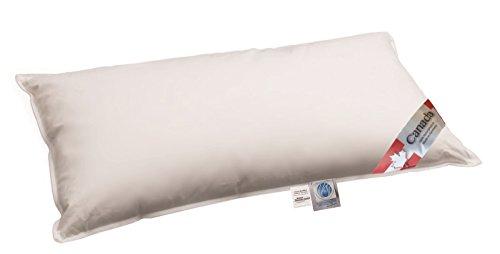 Canada Daunenkissen Plus Extra mit noch mehr Füllung insgesamt 450 g 100% weiche canadische Daunen 40x80 cm vom Betten Fachgeschäft