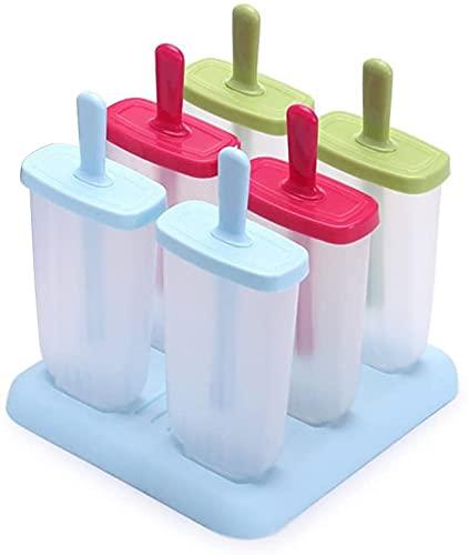 LifeMonde Stampi ghiaccioli - Stampi per Ghiaccioli/Gelati Realizzati in plastica di altissima qualità priva di BPA e Approvata dalla FDA, per la preparazione di ghiaccioli, gelati, sorbetti