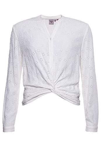 Superdry W6010748a Blusa, Color Blanco, L para Mujer