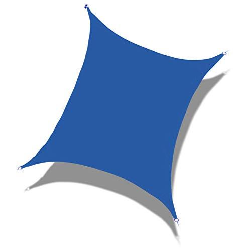 Laxllent Toldo Vela de Sombra Rectangular 2.4x3m Azul Real,Protección Rayos UV,Impermeable y Resistente, para Patio Jardín Balcón,con Cuerda