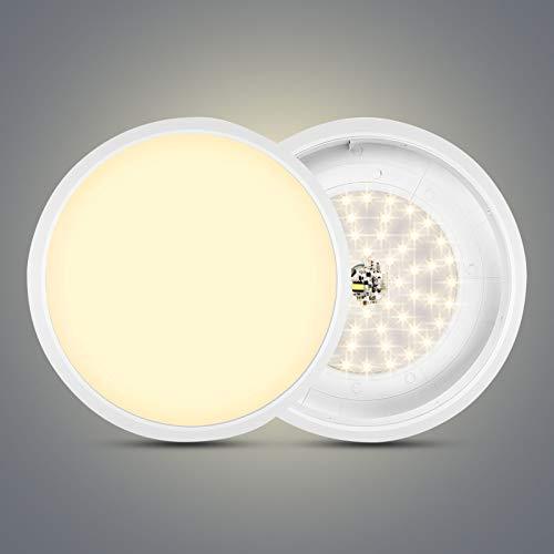 LED Deckenleuchte, LED Deckenlampe, IP54 Wasserdicht Rund Modern Led Deckenleuchten Schlafzimmer Küche Wohnzimmer Lampe für Wohnzimmer Schlafzimmer Kueche Flur Kein Flackern (Warmweiß, 36W Ø30cm)