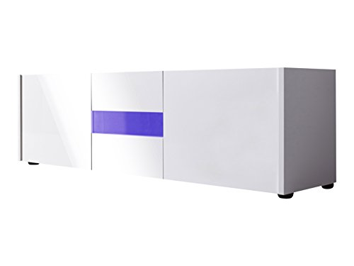 trendteam smart living IM31801 TV meubel lowboard wit hoogglans gelakt, BxHxD 130 x 37 x 39 cm modern 150 x 45 x 39 cm wit