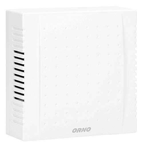 ORNO QUARTO AC - Timbre de puerta con cable (80 dB, 230 V CA), color blanco