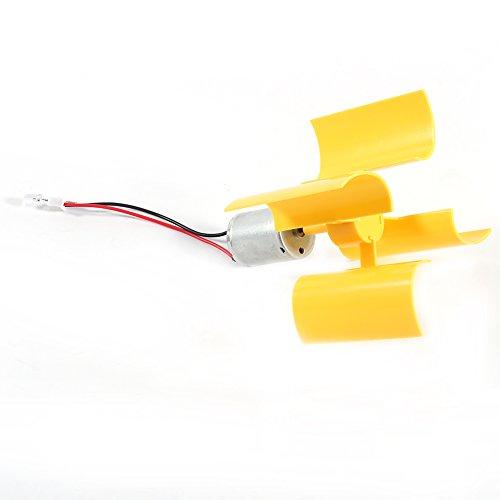 DIY Kit pequeño motor vertical turbinas de viento cuchillas brisa generador de electricidad