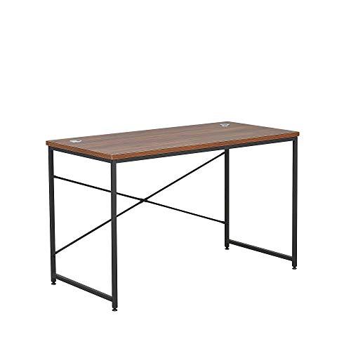 Oxford - Escritorio de oficina de estilo industrial de nogal, mesa para sala de estudio