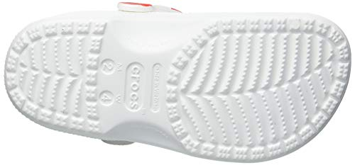 Crocs Classic American Flag Clog, White/Blue/Red, 10 US Women / 8 US Men Medium US