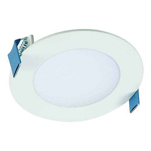 Halo HLB4069301EMWR HLB 4 in. 3000K Color Temperature New Construction or Remodel Canless Kit Recessed Integrated LED, White