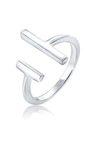 Elli Ring Damen Geo Stab Minimal in 925 Sterling Silber
