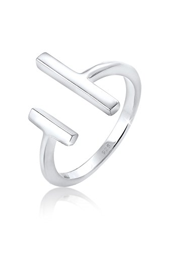 Elli Ring Damen Geo Stab Minimal in 925 Sterling Silber