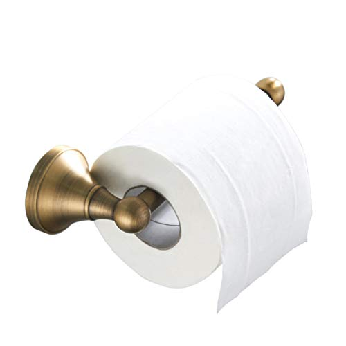 Flybath Toilettenpapierhalter ohne Deckel Antiquität Messing Bad WC-Rollenhalter Wandmontage, Bronze gebürstet
