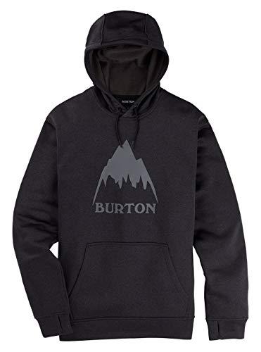 Burton Oak, Felpa Con Cappuccio Uomo, True Black Heather, L