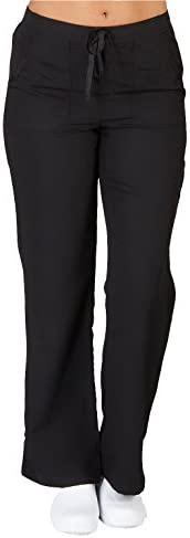 Ultra Soft Brand Scrubs Premium Womens Junior Fit Cargo Pocket Scrub Pant Black 36170 Small product image