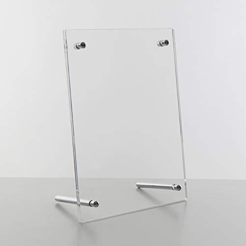 E+H Design Glasrahmen Bilderrahmen Fotorahmen mit Schraubverschluss aus Acrylglas PLEXIGLAS® - Fotoformat 12,7 x 17,8 cm