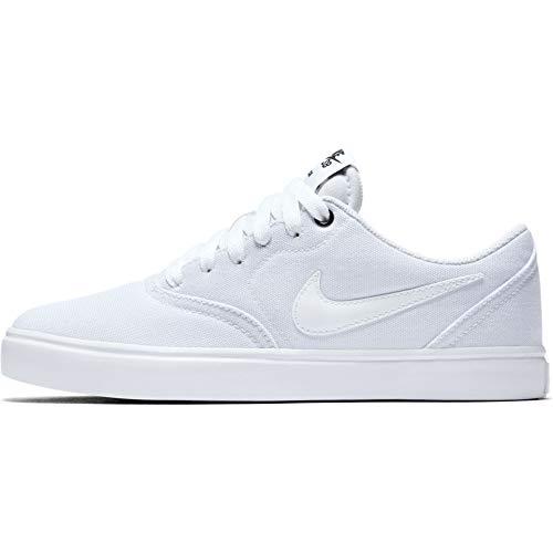 Nike Wmns SB Check Solar Cnvs, Scarpe Running Donna, Bianco (White/White/Black 110), 40.5 EU