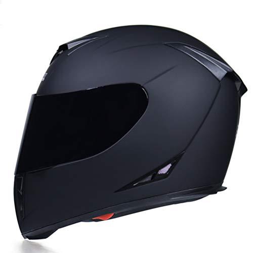 Motesen Motorrad-Integralhelme für Männer Casco Retro Moto MTB-Handschuhe Helm-Vollgesichts-Jugendmotorrad-Halbhelme Visier