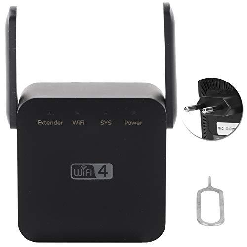 CHICIRIS Repetidor Inalámbrico De Enchufe De Pared, Amplificador De Señal Extensor De Wi-Fi, Extensor De Rango WiFi De Antenas Duales hasta 300 Mbps De Velocidad, 2,4 GHz(EU Plug)