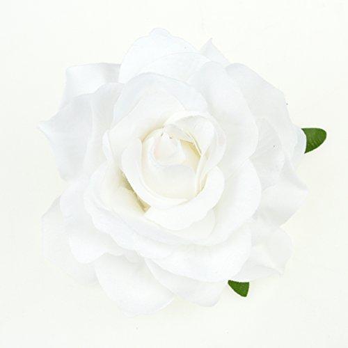 DRESHOW Flower Hair Clip Rose Hairpin Floral Brooch Floral Hair Clips for Women Rose Hair Accessories Wedding Pack 5/16 7