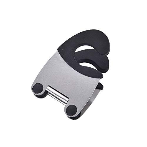 Clip de espátula lateral para olla, tenedor de pinzas, clip de soporte de cuchara, clip de olla de acero inoxidable de cocina, clip de cocina, herramientas de cocina de agarre anti-escaldadura