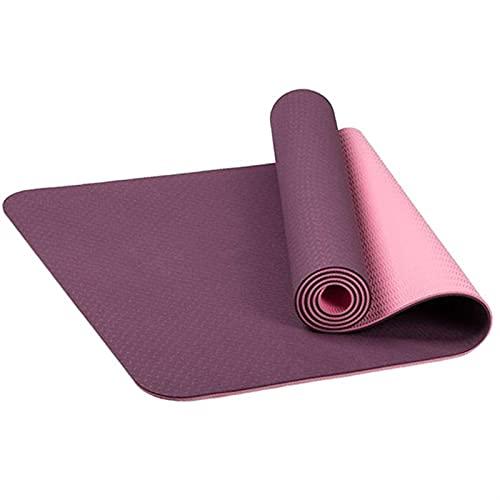 Alfombrillas de Yoga TPE Sin resbalón para Aptitud Aptitud Pilates Mat Gym Ejercicio Deporte Mats Pads con Correa de Bolsa de Yoga (Color : Pink)