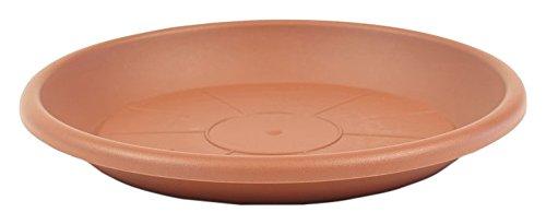 greemotion Soucoupe pour pot de fleur rond couleur terre cuite Ø17 cm - Dessous de pot de fleurs en plastique - Sous-pot pour plantes - Plateau pour pot de fleurs rond