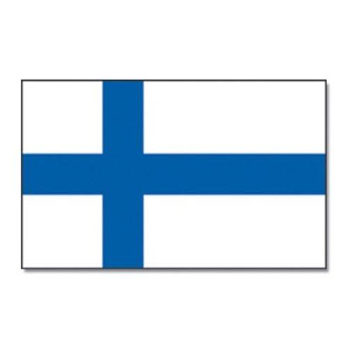 Qualitäts Fahne Flagge Finnland 90 x 150 cm mit verstärktem Hissband