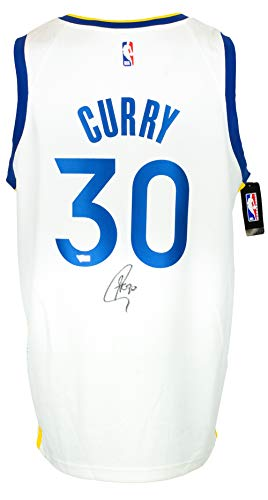 Stephen Curry Signed Golden State Warriors White Nike Basketball Jersey Fanatics