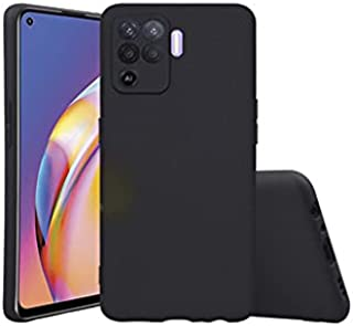 Oppo A94 / Oppo F19 Pro Case Cover Black Slim Fit for Soft TPU Back Cover Flexible Silicone Cover Matte Black for Oppo A94...